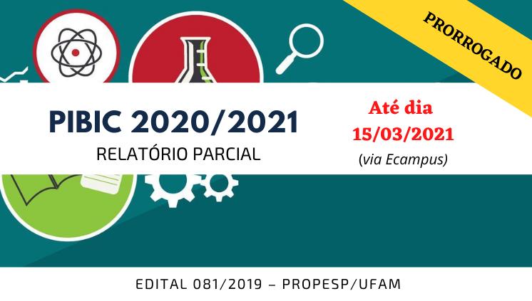PIBIC/PAIC 2020/2021 - Relatório Parcial
