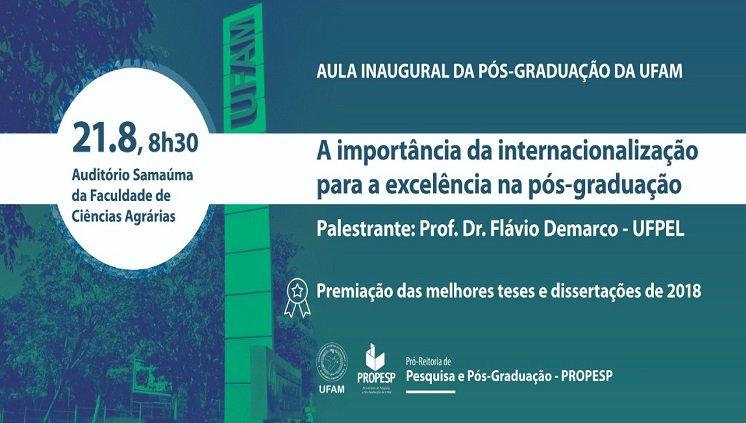 __Aula inaugural da Pós-Graduação de 2019/2__