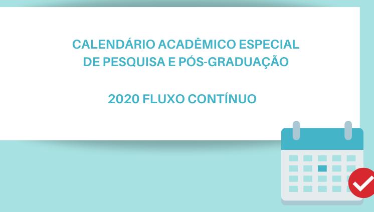 Calendário Especial 2020 Pesquisa e Pós-Graduação UFAM