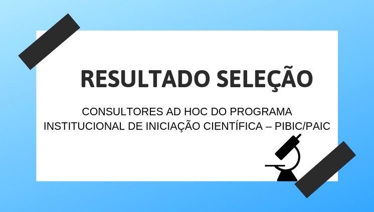 ______Resultado - Consultores Ad Hoc do PIBIC___