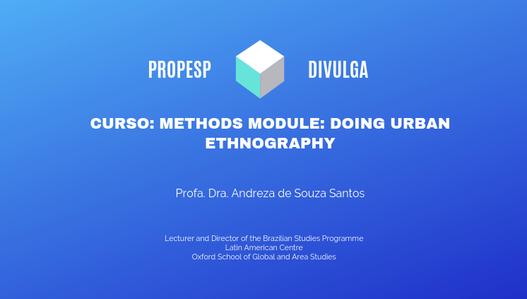 _Methods module: Doing Urban Ethnography__