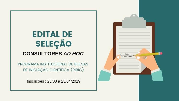 ______Edital de Seleção Consultores Ad Hoc_____