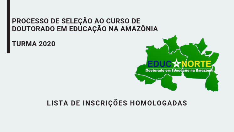 PROGRAMA DE PÓS-GRADUAÇÃO EM EDUCAÇÃO NA AMAZÔNIA – EDUCANORTE