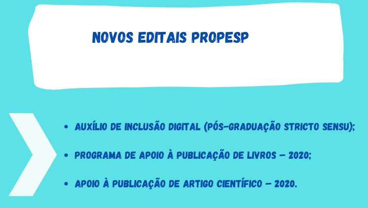 __Propesp Divulga Novos Editais em 2020___