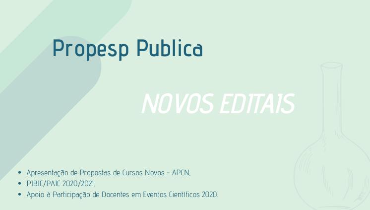 _________Novos Editais PROPESP_______________