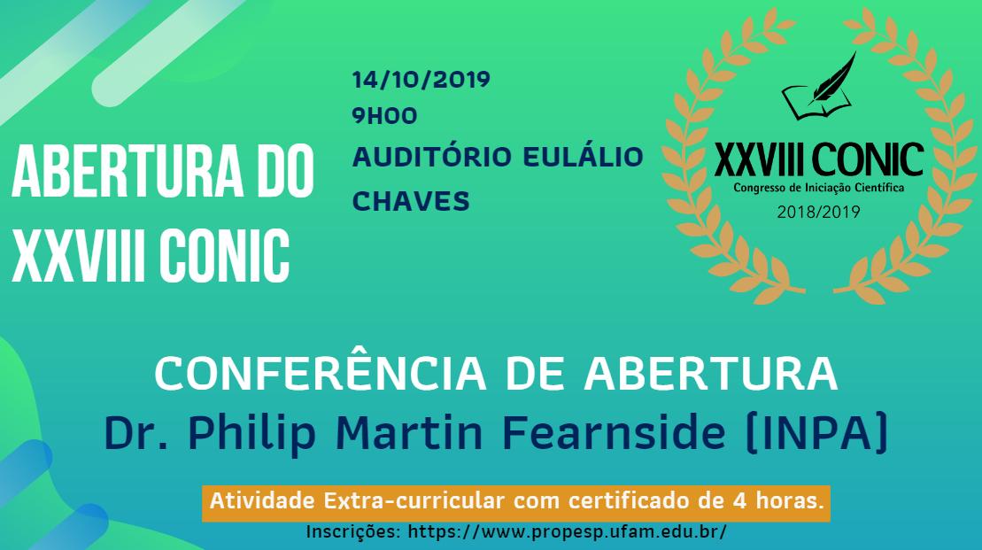 __Inscrições para Conferência de Abertura do XXVIII CONIC___