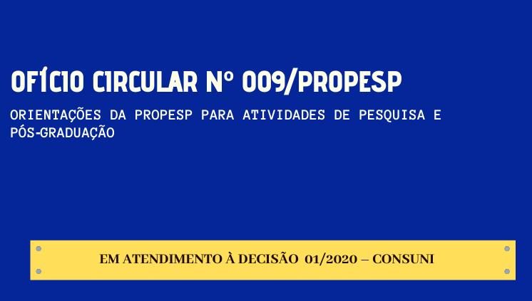 Atividades de Pesquisa e Pós‐Graduação - DECISÃO 01/2020 - CONSUNI